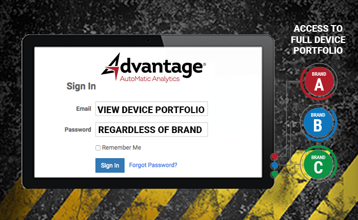Log Into Full Device Portfolio - Regardless of Brand - Advantage GPS