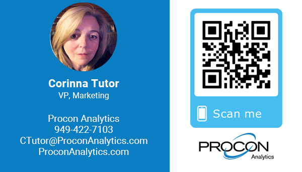 Corinna Tutor - Marketing - Procon Analytics