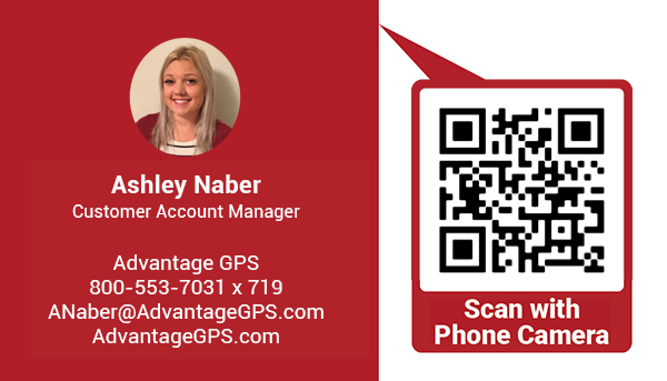 Ashley Naber - Customer Account Manager QR Code - Advantage GPS